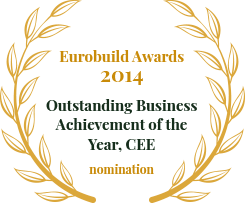 Eurobuild Awards 2014 Outstanding Business Achievement of the Year, CEE
