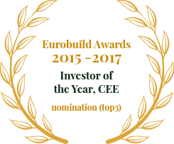 Eurobuild Awards 2015 -2017 Investor of the Year, CEE nomination (top3)