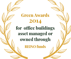 Green Awards for office buildings asset managed or owned through REINO funds